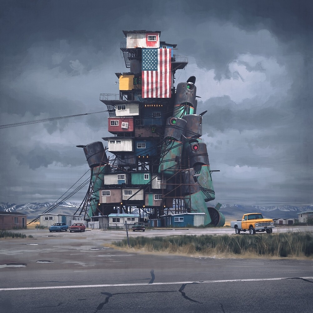 The Mound by Simon Stålenhag