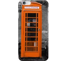 The Old Fashioned Telephone Box iPhone Case/Skin