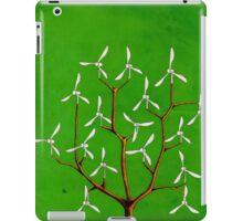 Wind turbine blades on a tree iPad Case/Skin