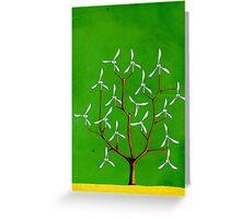 Wind turbine blades on a tree Greeting Card