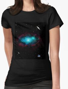 Scenic Space Womens Fitted T-Shirt