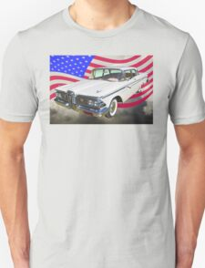 1959 Edsel Ford Ranger With American Flag T-Shirt