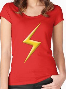 Yellow Lightning Bolt  Women's Fitted Scoop T-Shirt