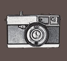 Vintage Camera One Piece - Short Sleeve