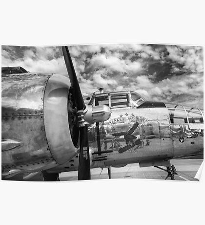 B-25 Mitchell Bomber - WWII, Yankee Warrior Poster