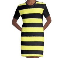 Beautiful Cushions / Collection/ BC Yellow Black Graphic T-Shirt Dress