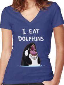 Killer Orca Women's Fitted V-Neck T-Shirt