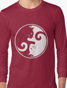 YIN YANG CAT Long Sleeve T-Shirt