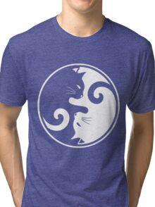 YIN YANG CAT Tri-blend T-Shirt