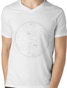 YIN YANG CAT Mens V-Neck T-Shirt
