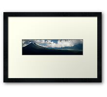 Ash and fear Framed Print