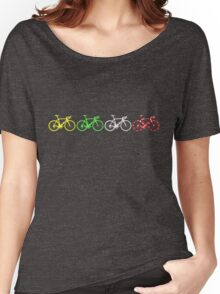 Bike Stripes Tour de France Jerseys v2 Women's Relaxed Fit T-Shirt