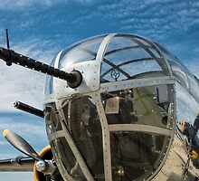 B-25 Mitchell Bomber (WWII) Yankee Warrior (Nose gun) by Mike Koenig