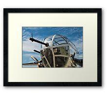 B-25 Mitchell Bomber (WWII) Yankee Warrior (Nose gun) Framed Print