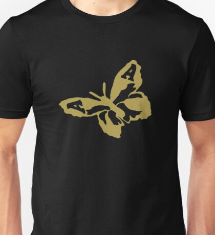 The Avalanches - Gold Wildflower Butterfly Unisex T-Shirt