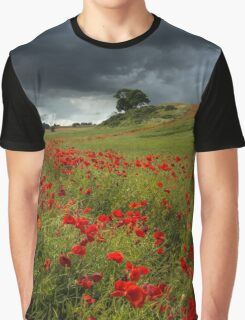 Storm over Poppy Ridge Graphic T-Shirt