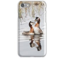 Red-necked grebes out loud iPhone Case/Skin