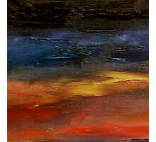 Sunset reflecting on the Ocean surface Photographic Print