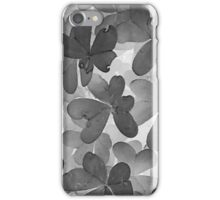 black&white clovers iPhone Case/Skin