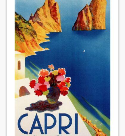 Vintage Capri Travel Sticker