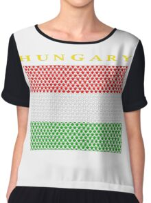 HUNGARY, STAR Chiffon Top
