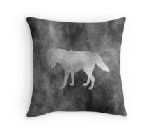 Wolf Black Grunge Style Throw Pillow