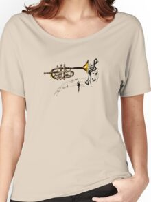 Trumpet Simple Sketch 2 Women's Relaxed Fit T-Shirt