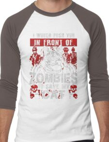 ZOMBIES CAT Men's Baseball ¾ T-Shirt