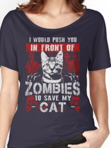ZOMBIES CAT Women's Relaxed Fit T-Shirt
