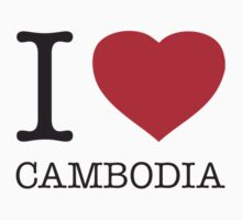 I ♥ CAMBODIA One Piece - Short Sleeve