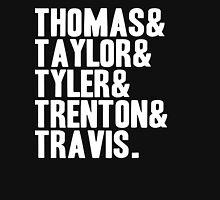 Thomas & Taylor & Tyler & Trenton & Travis. Womens Fitted T-Shirt