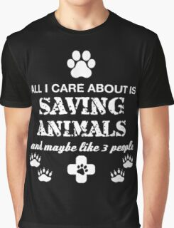 SAVING ANIMALS Graphic T-Shirt