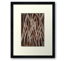 Folded arrows Framed Print