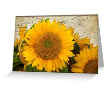 Sunflower Letters Greeting Card