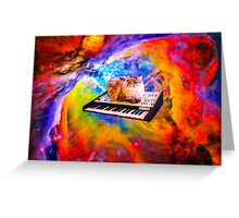 Keyboard Cat in Space Greeting Card