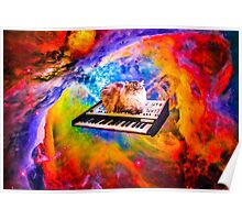 Keyboard Cat in Space Poster