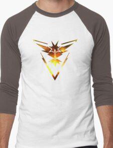 Team Instinct Pokemon Go Elements Men's Baseball ¾ T-Shirt