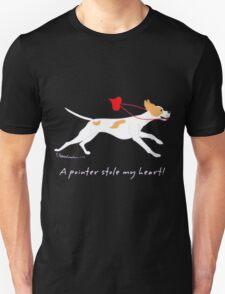 DOG A POINTER STOLE MY HEART  Unisex T-Shirt