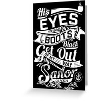 MY SAILOR IS BACK Greeting Card