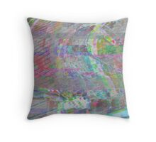 Glitch art 4/6 Throw Pillow