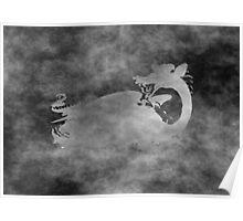 Grunge Dragon Poster