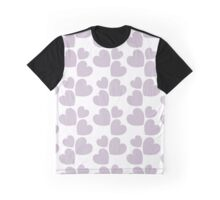 Lilac Hearts Graphic T-Shirt