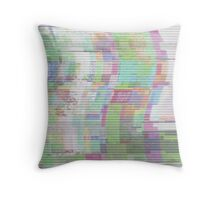 Glitch art 5/6 Throw Pillow