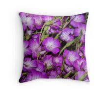 Garden of Purple Throw Pillow