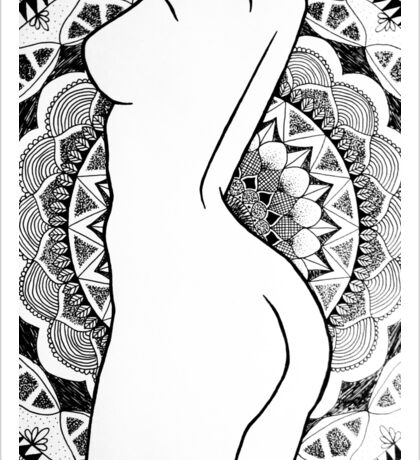 Female Body Mandala Sticker