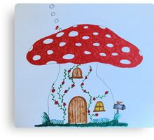 Toadstool House Canvas Print