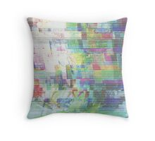Glitch art 6/6 Throw Pillow