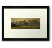 panoramic meadow Framed Print