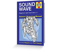 Haynes Manual - Soundwave (G1) - Poster & stickers Greeting Card