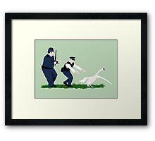 Swan cops Framed Print